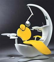 futuristic dental chair